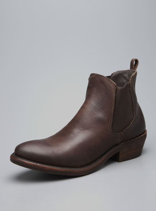 Vintage Shoe Company Covington Pull On Leather Ankle Boot