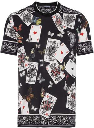 Dolce & Gabbana deck of cards print short sleeve t shirt