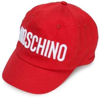 Moschino Kids logo embroidered cap