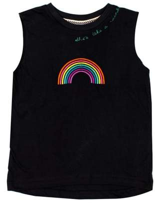 BOWIE X JAMES Embroidered Cotton Tank