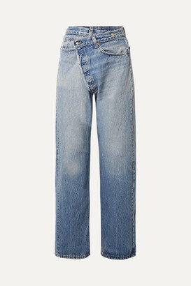 R 13 Crossover Asymmetric High-rise Straight-leg Jeans