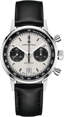 Hamilton Intra-Matic Automatic Chronograph Leather Strap Watch, 40mm