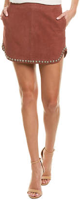 Karina Grimaldi Florence Leather Mini Skirt