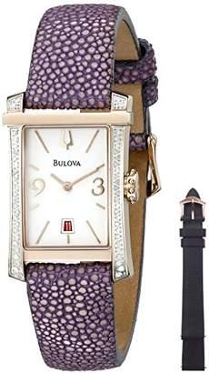 Bulova Women's 98R197 Analog Display Quartz Purple Watch $288.41 thestylecure.com