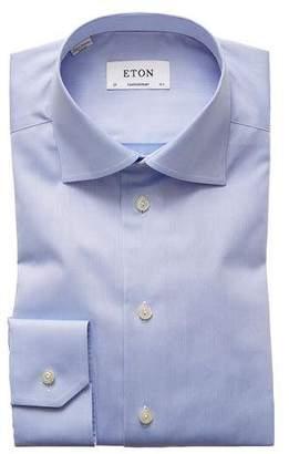 Eton Contemporary Fit Twill Dress Shirt