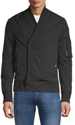 Diesel Black Gold Regular-Fit Shawl-Collar Bomber Jacket
