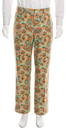 Ralph Lauren Purple Label Paisley Flat Front Pants
