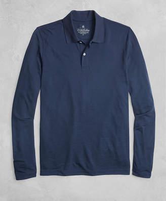 Brooks Brothers Golden Fleece BrooksTech Two-Button Long-Sleeve Polo Shirt