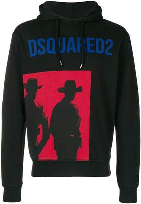 DSQUARED2 cowboy print hoodie