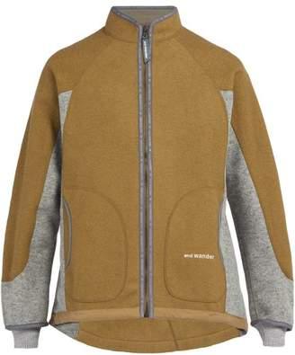 Blend of America And Wander - Air Two Tone Wool Fleece Jacket - Mens - Light Brown