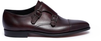 John Lobb 'William' double monk strap leather loafers
