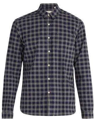 Oliver Spencer New York Check Cotton Shirt - Mens - Navy