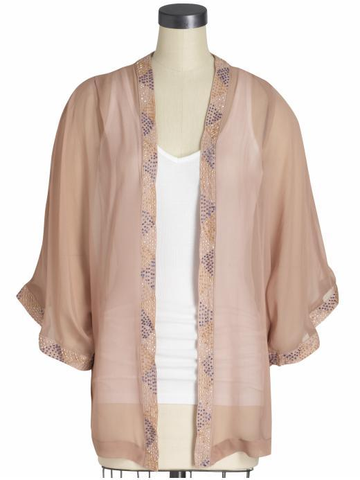 Isabel Lu Embellished Silk Cover Up