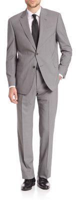 Armani Collezioni Pinstriped Wool Suit $1,695 thestylecure.com