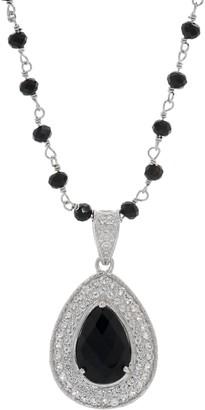 """Delatori DeLatori Sterling Silver Gemstone Pendant w/ 20"""" Chain"""