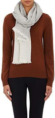 Barneys New York Women's Diagonal-Striped Cashmere Scarf