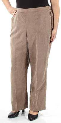 Alfred Dunner Womens Corduroy Classic Fit Corduroy Pants TanP