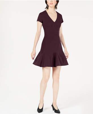 Bar III Seam-Detail Fit & Flare Dress