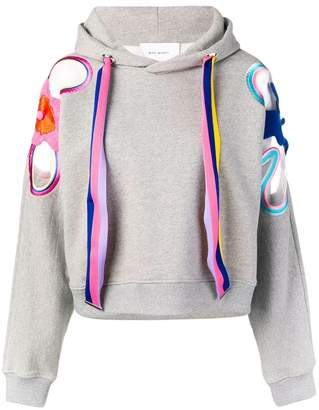 Mira Mikati rainbow flower patch hoodie