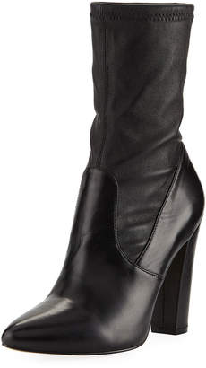 Neiman Marcus May Stretchy Leather Booties