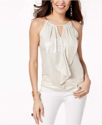 Thalia Sodi Ruffled Keyhole Top, Created for Macy's