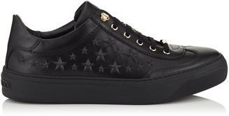 Jimmy Choo ACE Black Sport Calf Low Top Trainers with Embossed Stars