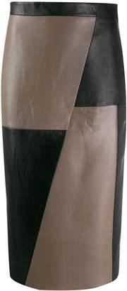 Eudon Choi panelled leather skirt