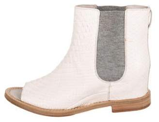 Brunello Cucinelli Embossed Chelsea Booties w/ Tags