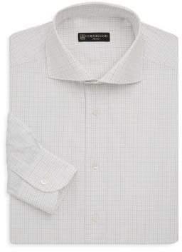Corneliani Regular-Fit Windowpane Cotton Dress Shirt