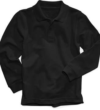 Nautica Long-Sleeve Uniform Polo, Big Boys Husky