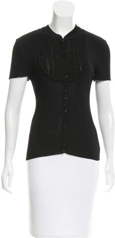 Christian Dior Embroidered Textured Top