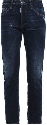 DSQUARED2 Run Dan Dark Wash Used Effect Denim Jeans