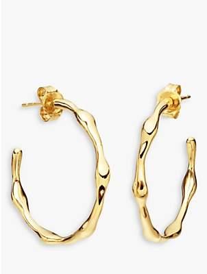 Missoma 18ct Gold Vermeil Medium Molten Hoop Earrings, Gold