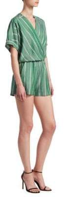 Maje Ipandoni Striped Short-Sleeve Romper