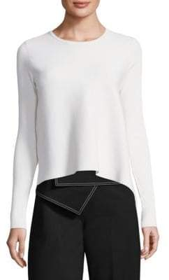 Derek Lam Long-Sleeve Crewneck Sweater