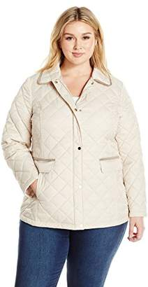 Lark & Ro Women's Size Quilted Barn Jacket Plus