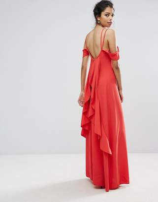 boohoo Ruffle Back Maxi Dress