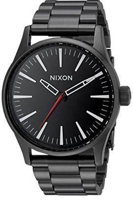 Nixon Men's A450005 Sentry 38 SS Analog Display Analog Quartz Black Watch