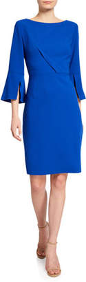 Elie Tahari Isla Bell-Sleeve Sheath Dress
