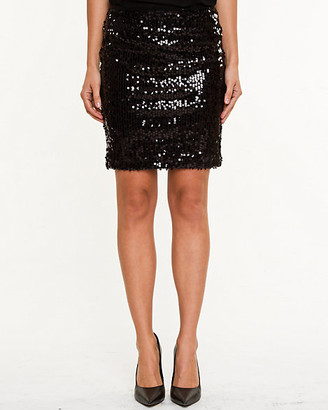 Le Château Sequin Mesh Mini Skirt