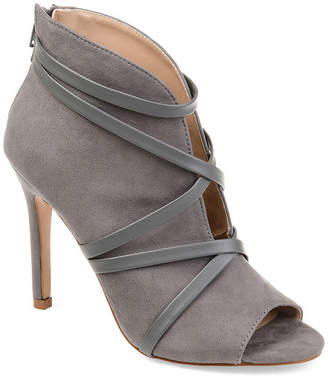 Journee Collection Womens Samara Booties Stiletto Heel Zip