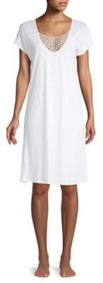 Hanro Embroidered Short-Sleeve Nightgown