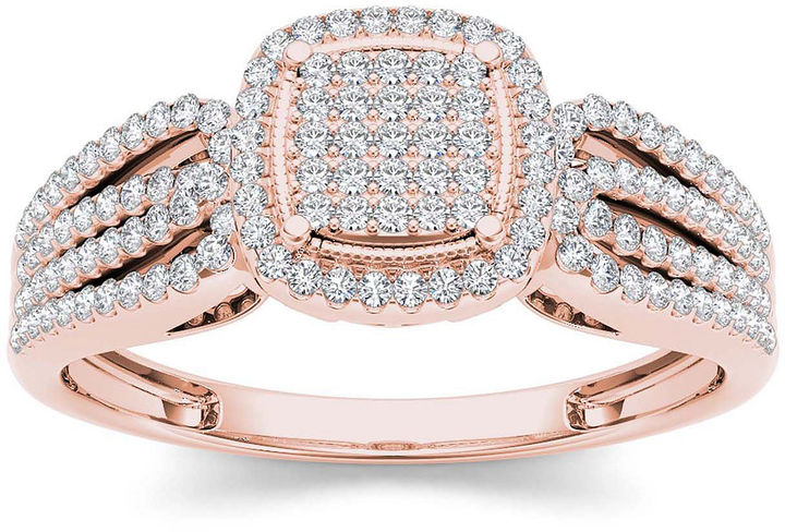 MODERN BRIDE 1/3 CT. T.W. Diamond 10K Rose Gold Engagement Ring
