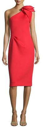 Jovani One-Shoulder Bow Cocktail Dress $495 thestylecure.com