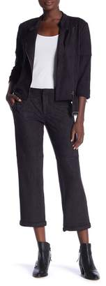 David Lerner Wide Leg Cropped Chino Pants