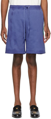 Gucci Blue Terry Logo Shorts