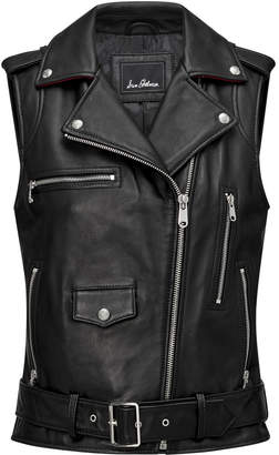 Sam Edelman Leather Moto Vest