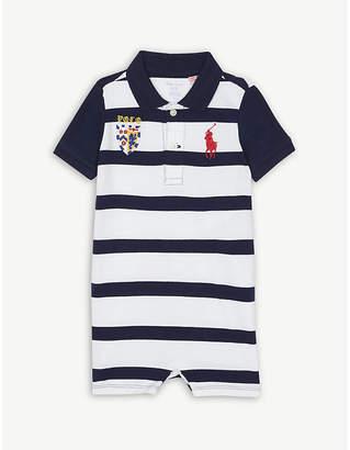 Ralph Lauren Logo crest cotton shortall 3-12 months