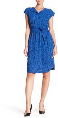 Anne Klein Sequin Print Shirt Dress