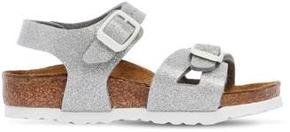 Birkenstock Glittered Faux Leather Sandals